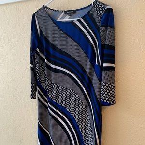 Nine West Dress!  Size 8 Blue, black, and white